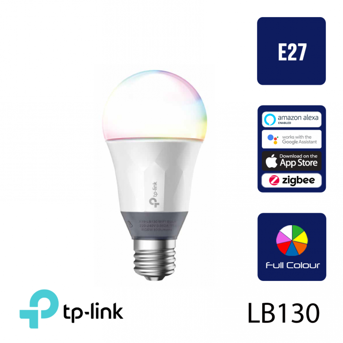 TP-LINK LB130 Smart WiFi Wireless Colour Changing LED