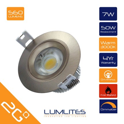 LED Driverless Downlight 7W 560Lm