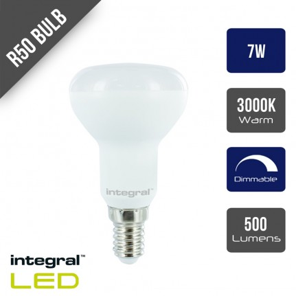 Integral LED R50 Bulb E14 500lm 7W Dimmable 120 Beam - 3000K
