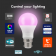 Crompton LED Smart GLS Thermal Plastic Dimmable 8.5W RGBW 3000K BC-B22d Warm