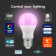 Crompton LED Smart GLS Thermal Plastic Dimmable 8.5W RGBW 3000K ES-E27 Warm
