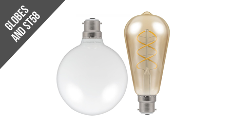 Dimmable Globes & ST58