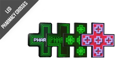 RGB Technology LED Pharmacy Crosses